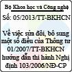 Thông tư 05/2013/TT-BKHCN