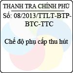 Thông tư liên tịch 08/2013/TTLT-BTP-BTC-TTCP hướng dẫn thực hiện trách nhiệm bồi thường của nhà nước trong hoạt động quản lý hành chính
