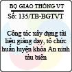 Thông báo 135/TB-BGTVT