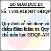 Công văn 1500/BGDĐT-GDQP