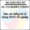 Công văn 1521/BGDĐT-CTHSSV