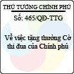 Quyết định số 465/QĐ-TTG