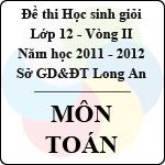 Đề thi học sinh giỏi tỉnh Long An lớp 12 vòng 2 năm 2011 - 2012 môn Toán đề thi môn toán