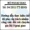 Thông tư 04/2011/TT-BNG