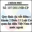 Nghị định 107/2011/NĐ-CP