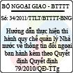Thông tư liên tịch 34/2011/TTLT/BTTTT-BNG