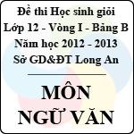Đề thi học sinh giỏi tỉnh Long An lớp 12 vòng 1 năm 2012 - 2013 môn Ngữ Văn (Bảng B) đề thi môn ngữ văn