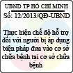Quyết định 12/2013/QĐ-UBND TP Hồ Chí Minh