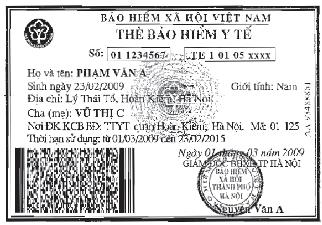 thẻ BHYT - trẻ em dưới 6 tuổi