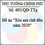 """Quyết định 692/2013/QĐ-TTg đề án """"xóa mù chữ đến năm 2020"""""""
