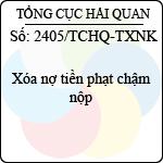 Công văn 2405/TCHQ-TXNK xóa nợ tiền phạt chậm nộp