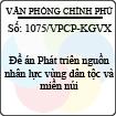 Công văn 1075/VPCP-KGVX