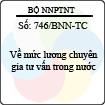 Công văn 746/BNN-TC