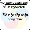 Quyết định 125/QĐ-VPCP