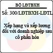 Công văn 300/LĐTBXH-LĐTL