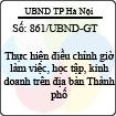 Công văn 861/UBND-GT
