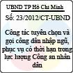 Chỉ thị 23/2012/CT-UBND
