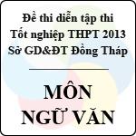 Đề thi thử tốt nghiệp THPT năm 2013 tỉnh Đồng Tháp - Môn Ngữ văn (Có đáp án) sở gd&đt đồng tháp