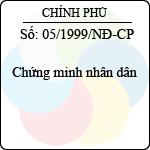 Nghị định 05/1999/NĐ-CP chứng minh nhân dân