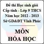 Đề thi học sinh giỏi lớp 9 THCS tỉnh Vĩnh Phúc năm 2013 môn Hóa học - Có đáp án sở gd&đt vĩnh phúc