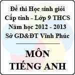 Đề thi học sinh giỏi lớp 9 THCS tỉnh Vĩnh Phúc năm 2013 môn Tiếng Anh - Có đáp án sở gd&đt vĩnh phúc