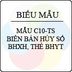 Mẫu số C10-TS: Biên bản hủy sổ BHXH, BHYT biểu mẫu về bhxh