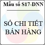 Mẫu số S17-DNN: Sổ chi tiết bán hàng mẫu sổ sách kế toán thuế