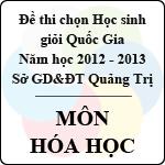 Đề thi chọn đội tuyển Học sinh giỏi Quốc Gia tỉnh Quảng Trị năm 2012 - 2013 môn Hóa học sở gd&đt quảng trị