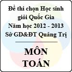 Đề thi chọn đội tuyển Học sinh giỏi Quốc Gia tỉnh Quảng Trị năm 2012 - 2013 môn Toán sở gd&đt quảng trị