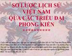 Sơ lược lịch sử Việt Nam qua các triều đại phong kiến giới thiệu lịch sử việt nam