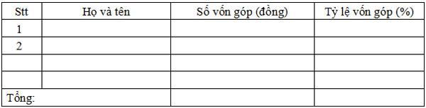 Mẫu biên bản họp hội đồng thành viên
