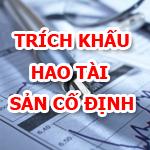 Bảng trích khấu hao tài sản cố định biểu mẫu kế toán