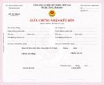 Giấy chứng nhận đăng ký kết hôn biểu mẫu về hôn nhân và gia đình