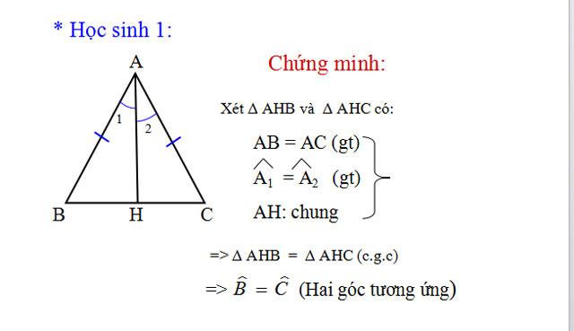 Tam giác cân Hình học bảy
