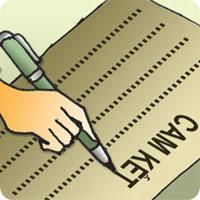 Cách viết giấy cam kết